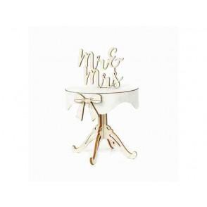 Izrezki, 3D, Poročna miza