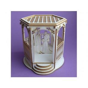 Izrezki, 3D, Paviljon in poročni par