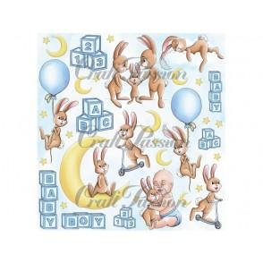 Papir, Cute Bunny Boy Cutouts