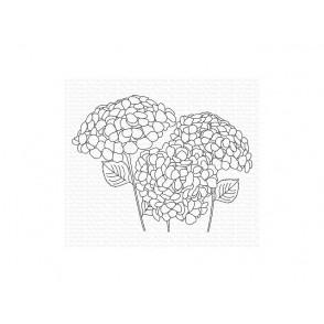 Štampiljka, Hydrangeas In Bloom