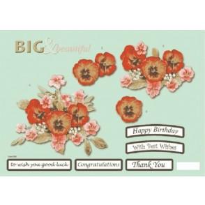 Papir, Decoupage, Big & beautiful floral, 565