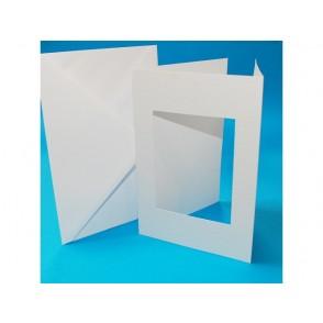 Set osnov in kuvert, C5, tristrane z odprtino