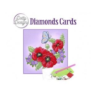 Dotty Designs, Diamonds kartice, Red Flowers