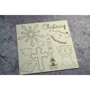 Izrezek, chipboard, Lesena dekoracija, Innocence, 3D kelih