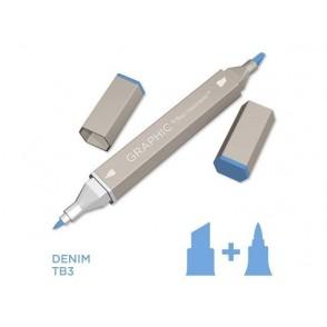 Marker Graphic, Denim