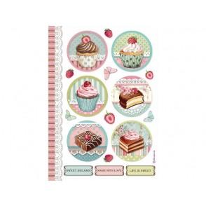 Rižev papir, Round Mini Cakes, Sweety