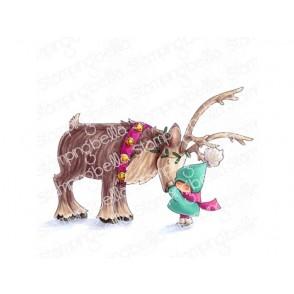 Štampiljka, Bundle Girl W/Reindeer