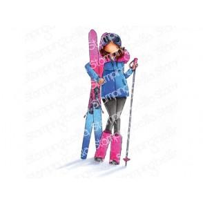 Štampiljka, Curvy Girl Loves To Ski