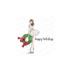 Štampiljka, Uptown Girl Wren & Her Wreath