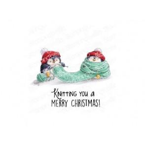 Štampiljka, Knitting Penguin