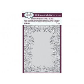 Mapa za embosiranje, Decorative poinsettia frame