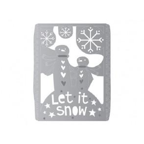 Rezalna šablona, Let it snow