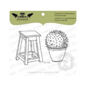 Štampiljka, A chair with a flowerpot