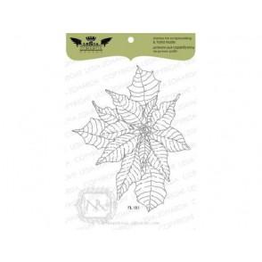 Štampiljka, Poinsettia - large
