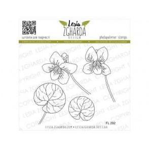 Štampiljka, Violets flowers
