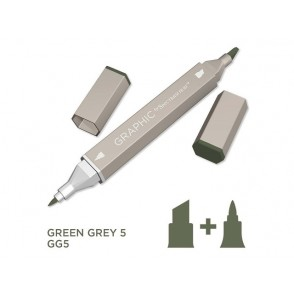 Marker Graphic, Green grey 5