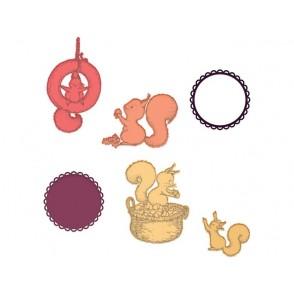 Rezalna šablona, Furry-Tailed Frolic
