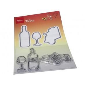 Rezalna šablona in štampiljka, Hetty's Wine set