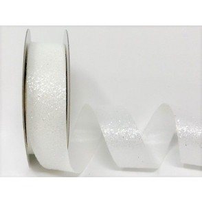 Dekorativni trak, Crystal glitter, bel