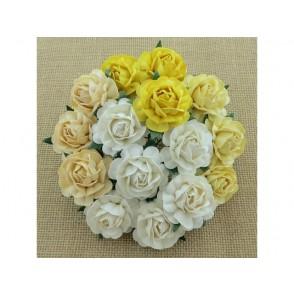 Čajne vrtnice, mix bela/krem