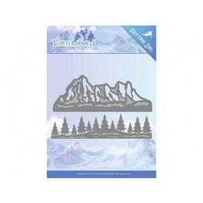 Rezalna šablona, Wintersports, Mountain border