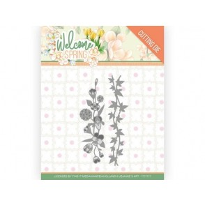 Rezalna šablona, Welcome Spring, Flowers and Leaf Borders