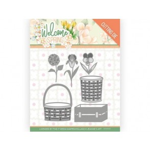 Rezalna šablona, Welcome Spring, Spring Basket
