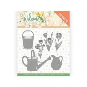 Rezalna šablona, Welcome Spring, Watering Can and Bucket