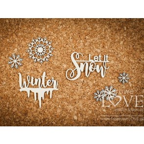 Izrezek, chipboard, Arctic Sweeties, Let it snow