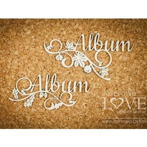 Izrezek, chipboard, Hello Autumn, napis Album