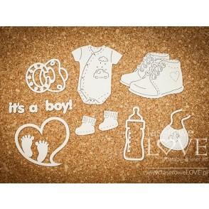 Izrezek, chipboard, Baby Boom, Dodatki za fantka