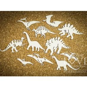 Izrezek, chipboard, Dino Land, dinozavri