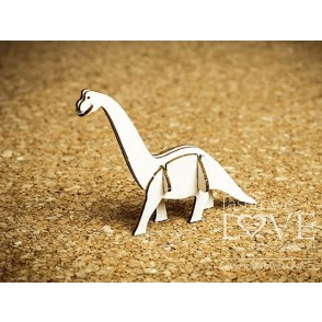 Izrezek, chipboard, Dino Land, 3D diplodok