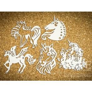 Izrezek, chipboard, Rainbow Unicorn, samorogi 3
