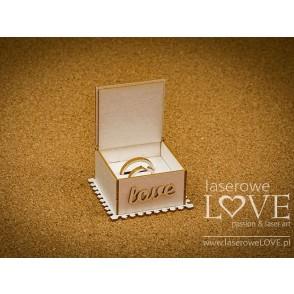Izrezek, chipboard, Holy & White, 3D škatlica za poročna prstana