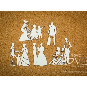 Izrezek, chipboard, Beautiful Moments, Wedding fun with children