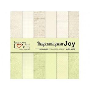 Papir, Beige and green JOY