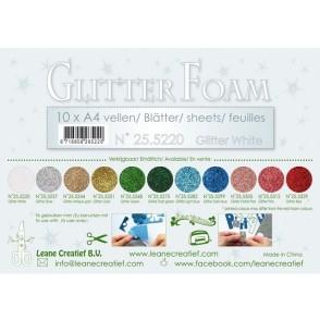 Glitter Foam, bleščeča pena, bela