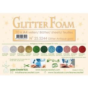 Glitter Foam, bleščeča pena, zlata, antično
