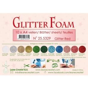 Glitter Foam, bleščeča pena, rdeča