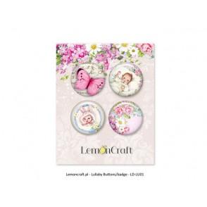 Samolepilni gumbi, Lullaby, roza