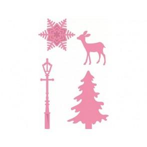 Rezalna šablona, Christmas village decoration