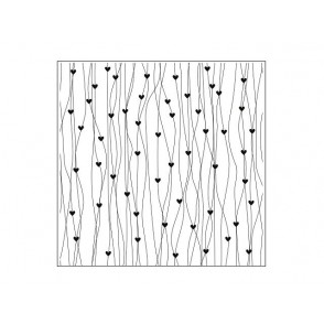 Mapa za embosiranje, Lines with hearts