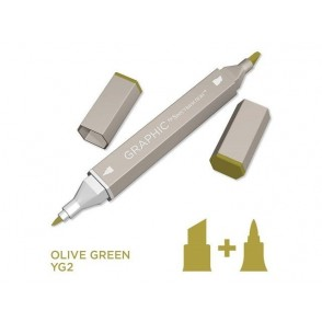 Marker Graphic, Olive green