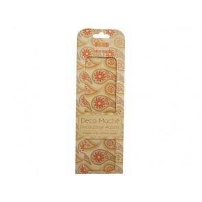 Papir, Decoupage, Orange paisley