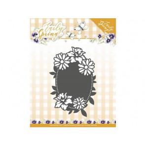 Rezalna šablona, Early Spring, Spring Flowers Oval label