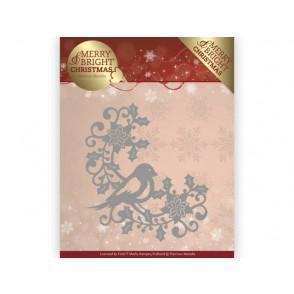 Rezalna šablona, Merry and Bright Christmas, Bird Corner