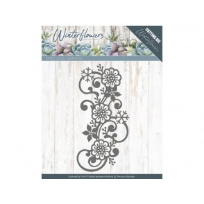 Rezalna šablona, Winter Flowers, Snowflake flower swirl
