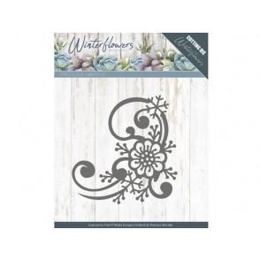 Rezalna šablona, Winter Flowers, Snowflake flower corner