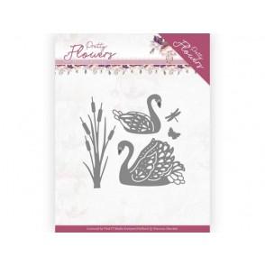 Rezalna šablona, Pretty Flowers, Pretty Swans
